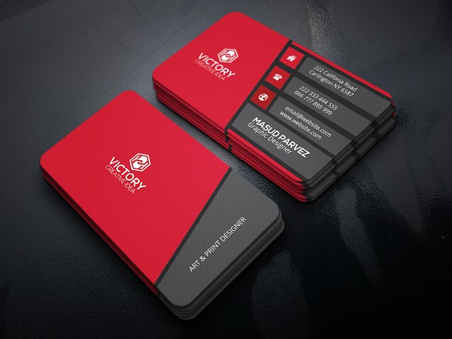 Business Card Design Free PSD Download