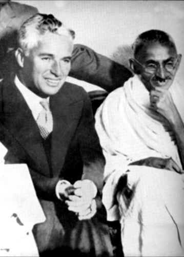 charlie chaplin with mahatma gandhi