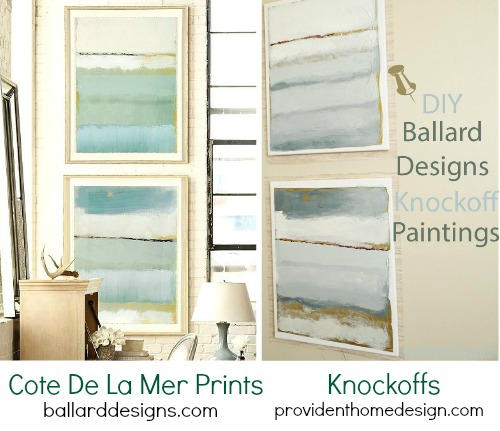 Ballard Coastal La Mer Paintings Knock Off