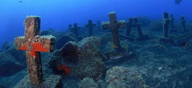 Cemitério submarino dos 40 mártires brasileiros em Malpique, nas Ilhas Canarias