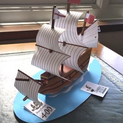 Educational Papercraft Pilgrim Ship