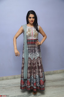 Sakshi Chaudhary Beautiful Emroidery Work Sleeveless Anarkali Dress 012.JPG