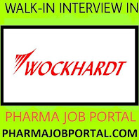 Urgently Vacancy at Wockhardt limited