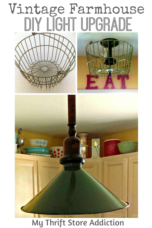 DIY vintage farmhouse light upgrade