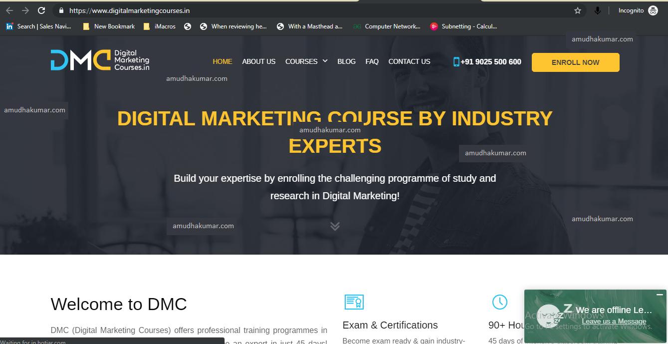 Digital Marketing Course - Digital Marketing Training in Chennai - Amudhakumar