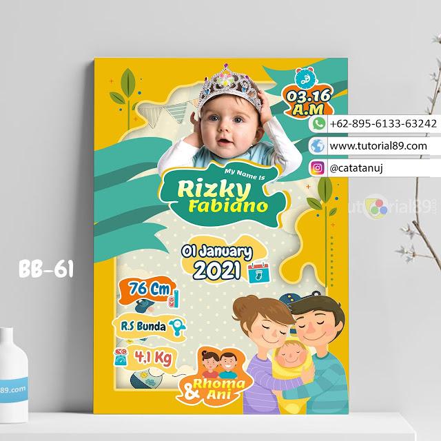 Biodata Bayi Costume Unik Kode BB61 | Abstrak Orange