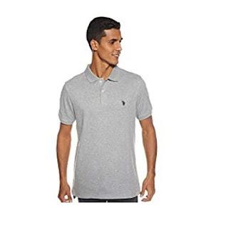 U.S. Polo Assn. Men's Solid Interlock Short-Sleeve Polo Shirt