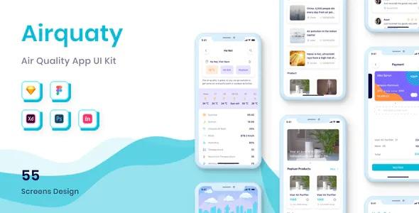 Best Air Quality App UI Kit