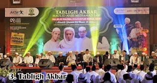 Tabligh Akbar merupakan salah satu kegiatan yang rutin dilakukan untuk memperingati maulid nabi