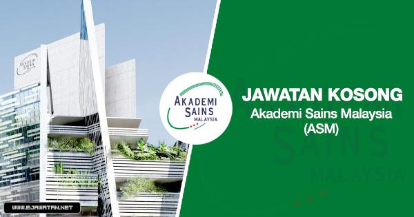 jawatan kosong akademi sains malaysia 2020
