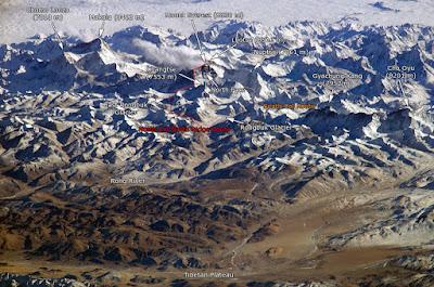 rotas de chegada ao Monte Everest