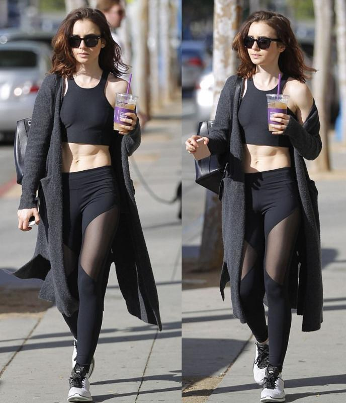 Lily Collins in Tank Top