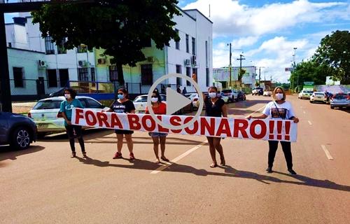 Manifestantes fazem ato contra o governo Bolsonaro em Porto Velho - VÍDEO