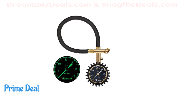32%OFF AstroAI Tire Pressure Gauge Expert, 0-60 PSI, Certified ANSI B40.1 Accurate with Improved Needle and Chuck