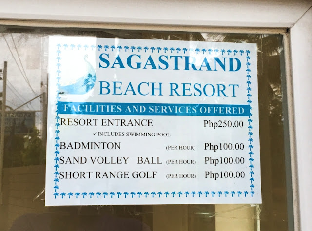 Sagastrand Beach Resort Entrance Fee and Other Fees