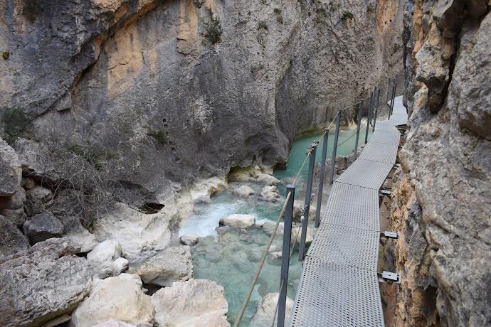 Cañón del río Vero, en el Prepirineo de Huesca