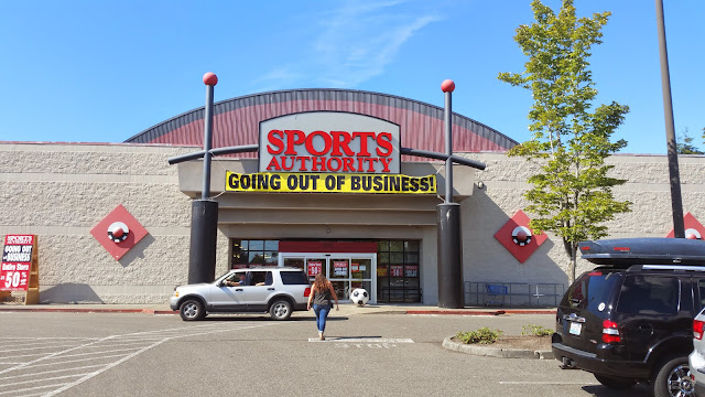 Sports Authority gets got again. Karma on the PCT.