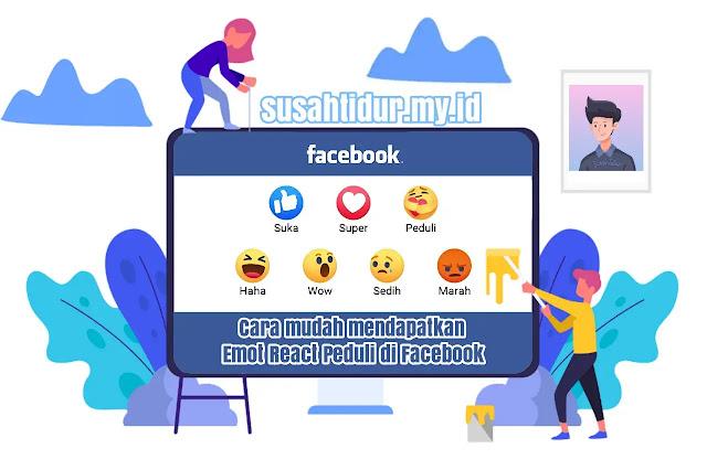 Cara mendapatkan emot Peduli Facebook