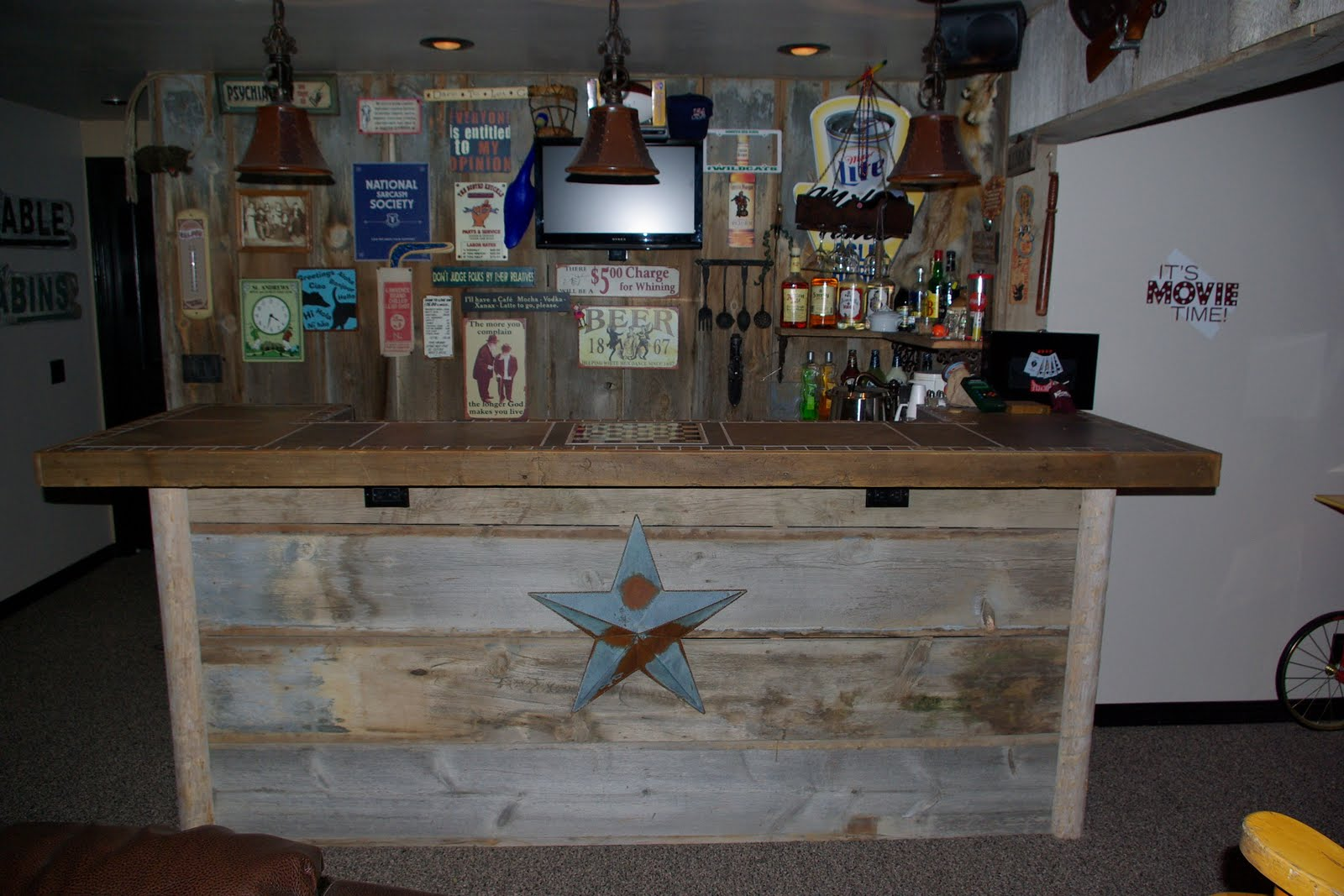 Reclaimed Rustics Barn Wood Bar