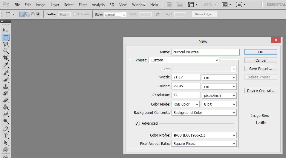 Tutorial Membuat Curriculum Vitae Menggunakan Adobe Photoshop