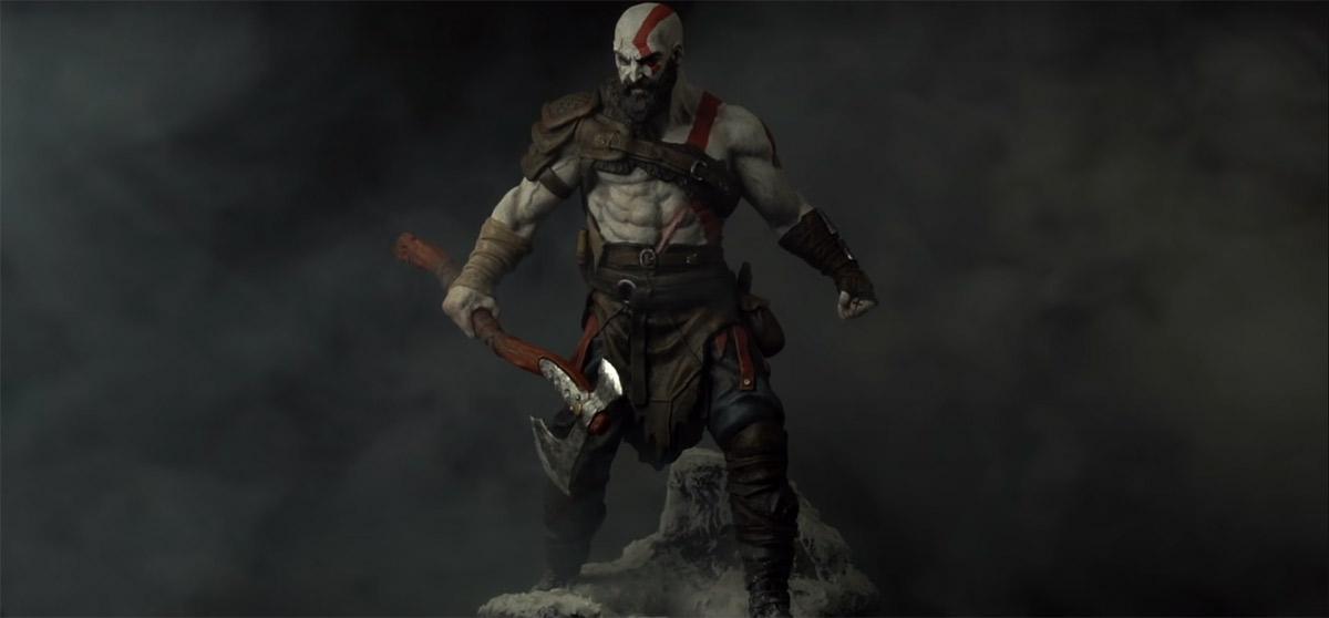 Esculpindo Kratos de God of War 4 em timelapse