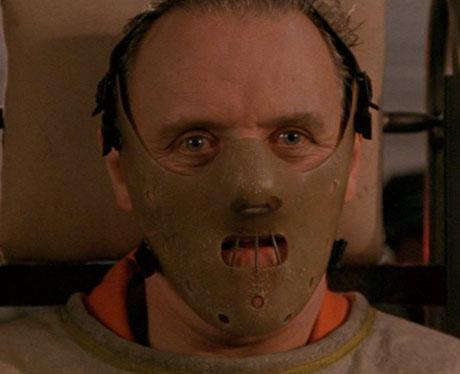 """Mascara de seguridad de Hannibal Lecter en """"El Silencio de los Corderos"""""""