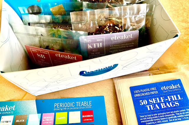 Loose leaf tea from eteaket from Edinburgh ready for a ClassBento tea tasting and mindfulness class