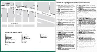 Postcard: Toronto Junction Summer Solstice Festival 2012 Businesses Map
