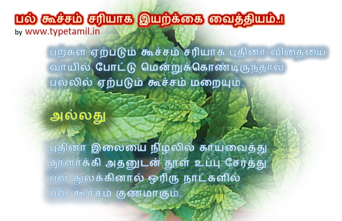 Pal koocham sariyaga iyarkai maruthuvam, Natural Cure for Sensitive teeth, mint seed, mint leaves, பல் கூச்சம் சரியாக,