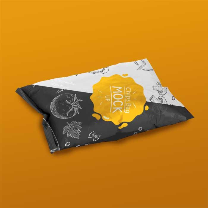 Bag Of Chips PSD Mockup