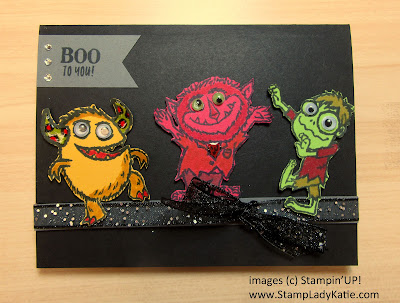 Halloween Card made with Stampin'UP!'s Boo to You Stamp Set