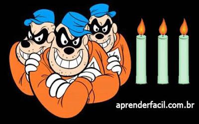Em uma igreja tem 5 velas. Entram 3 ladrões e cada um leva uma. Quantas velas ficam na igreja?