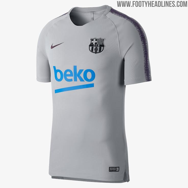 big sale 5b057 4d04a Nike Barcelona 18-19 Training Kit Released - Footy Headlines