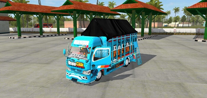 download mod bussid truck canter bos cilik