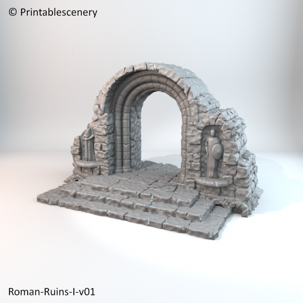Printable Scenery: Ruined Roman Ruins - Print, Paint and Play!