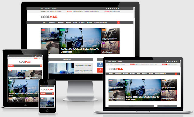 Cool Mag Responsive Blogger Templates