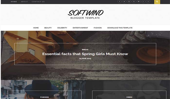 Chia sẻ mẫu giao diện blogger SoftWind