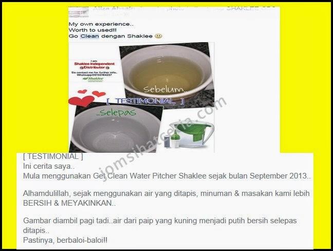 Water Pitcher, Produk SHAKLEE, Kongsi, Independent SHAKLEE Distributor, Pengedar Shaklee Kuantan, Info, Testimoni,