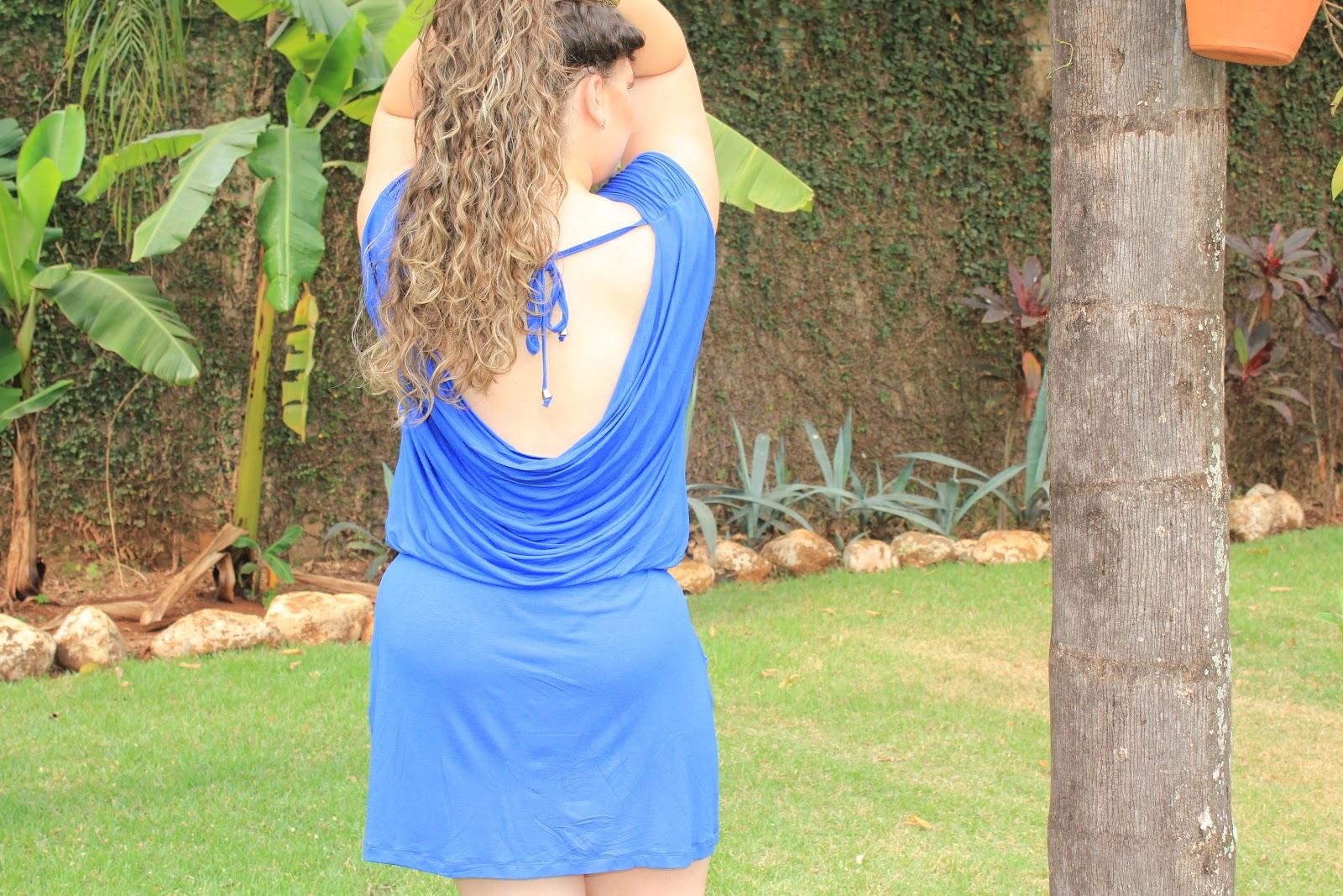 35c1393c6f Look da Lai – Vestido com elástico na cintura – Laiara Leoni