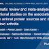 Uma revisão sistemática e metanálise de estudos observacionais sobre a associação entre fontes de proteína animal e risco de artrite reumatoide.