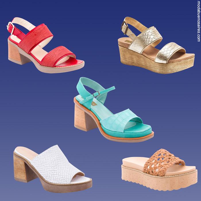 Sandalias primavera verano 2020. Calzado femenino primavera verano 2020 sandalias de mujer.