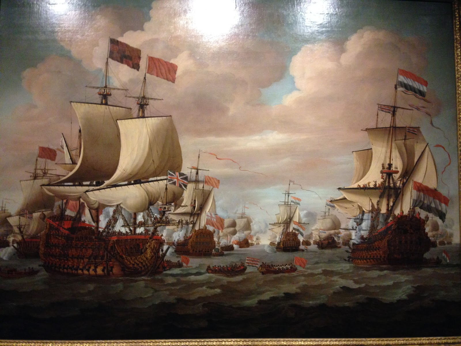 Two ships in the painting