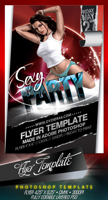 Graphicriver Sexy Party Flyer Template