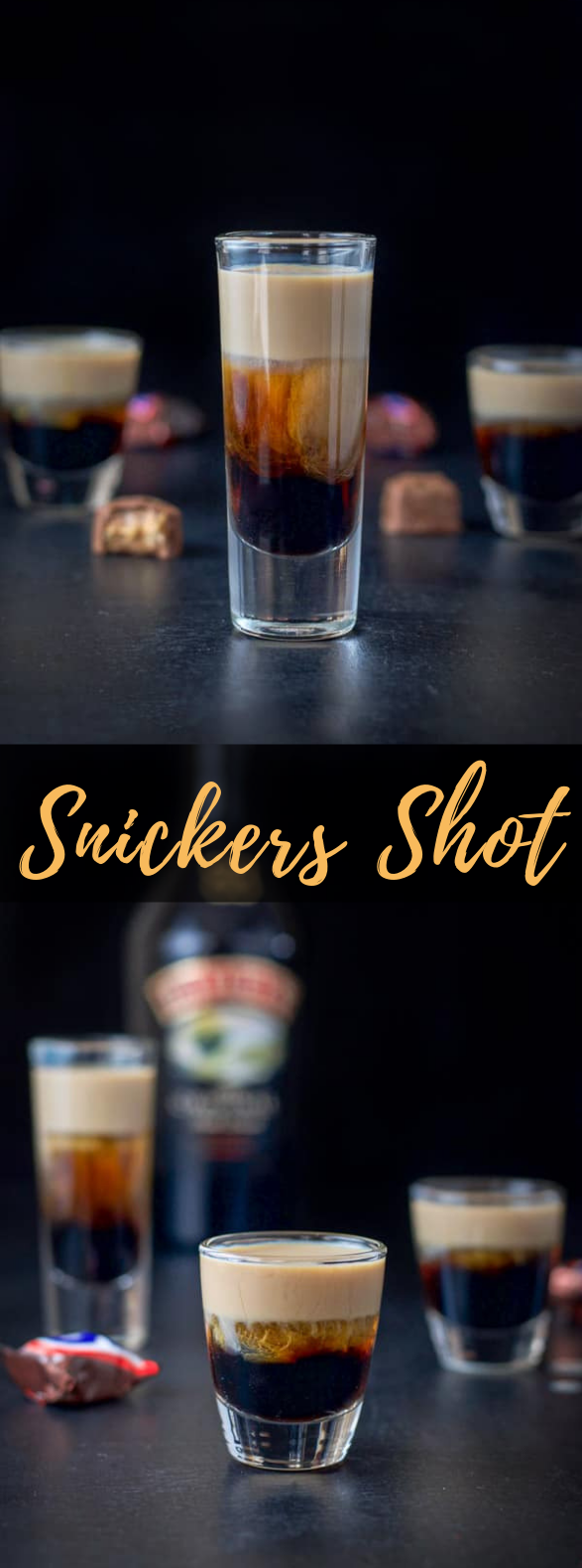 SNICKERS SHOT | STORM CLOUDS IN A GLASS #cocktails #candybar