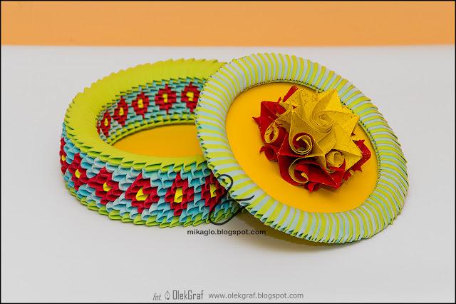 383. Szkatułka z origami / 3d origami flower box
