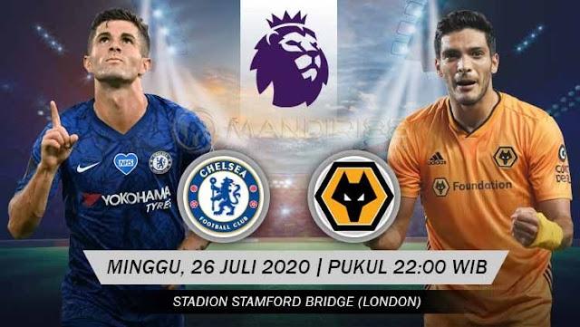 Prediksi Chelsea Vs Wolves, Minggu 26 Juli 2020 Pukul 22.00 WIB @ Mola TV
