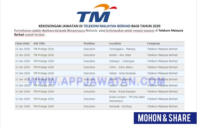 Jawatan Kosong di Telekom Malaysia Berhad (TMB).