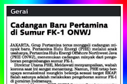 Pertamina's New Reserves in ONWJ FK-1 Well