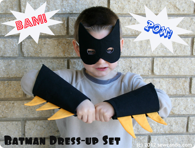 Batman kids costume tutoriall