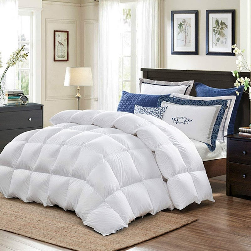 60%OFF Luxury Goose Down Alternative Comforter King 106 x 90 Inch,Ultra Soft Brushed Microfiber